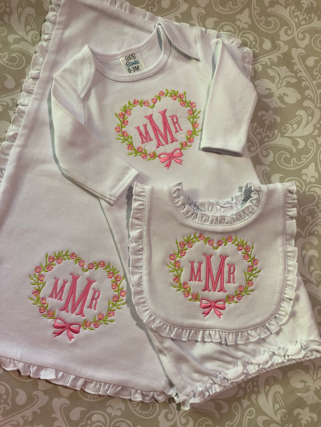 Monoram baby layette gift set