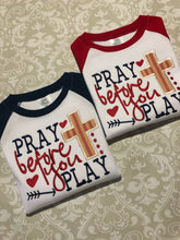 Pray before you Play Baseball raglan