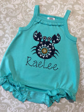 Crab Applique Bubble Romper