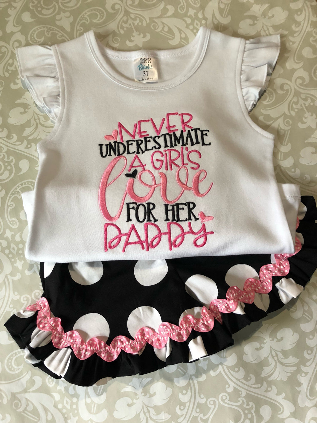 Daddys girl Fathers day outfit