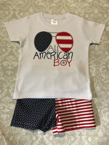 All american boy shorts set