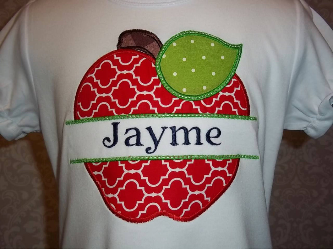 Apple Monogram tee