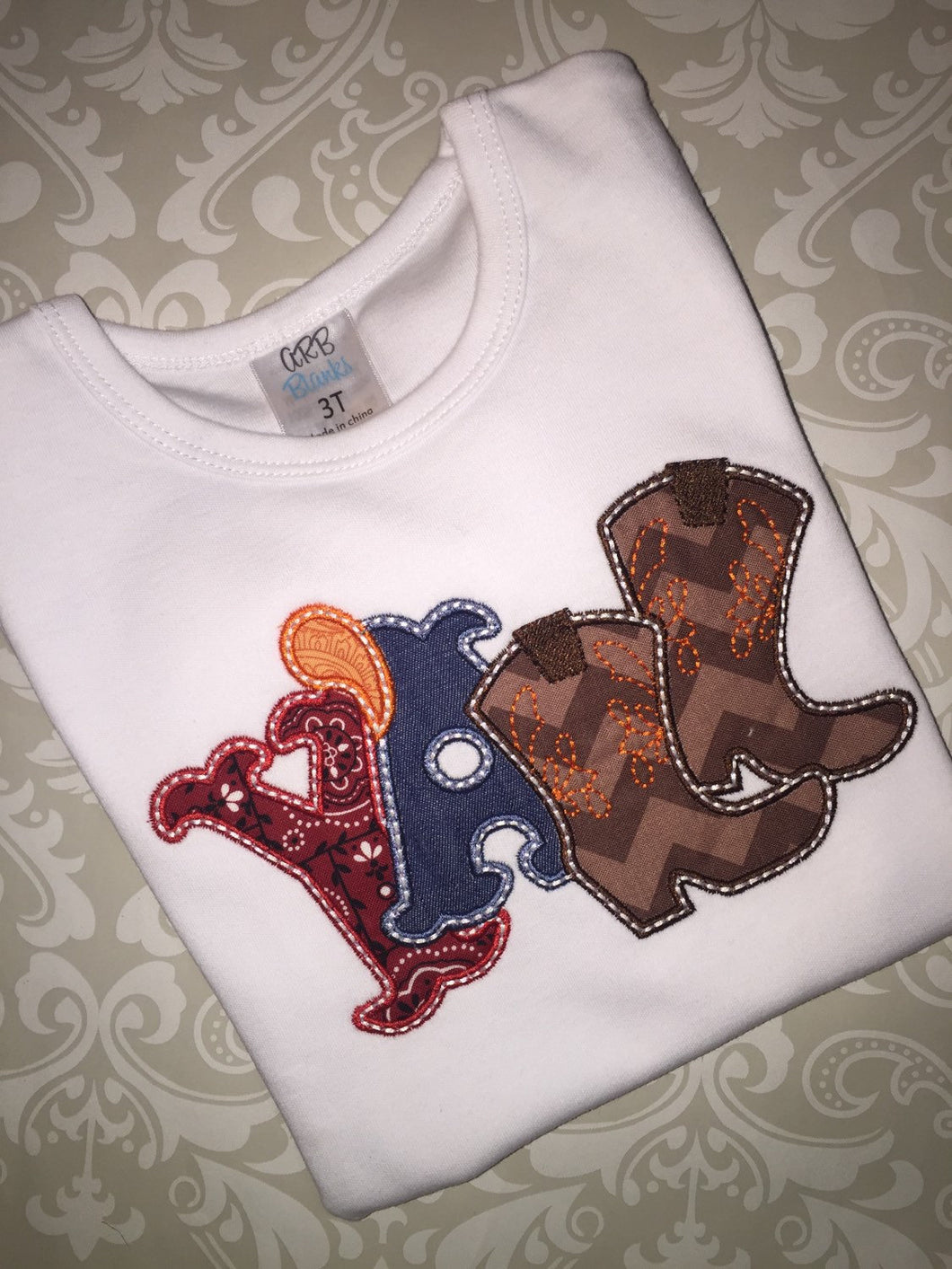 Y'all applique ruffle tee