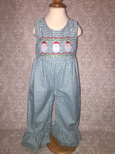 Santa faux smocked jumper