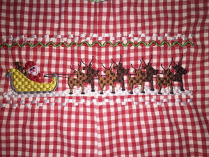Reindeer faux smocked jumper