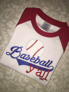 Baseball y'all raglan
