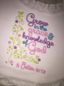 Embroidered Christian Baby bib