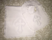 Embroidered Christening bib