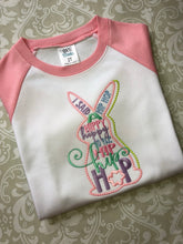 Hip hop girls Easter raglan tee