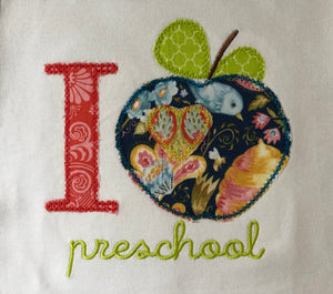I love school apple applique pants or shorts back to school outfit
