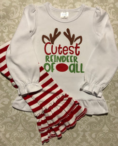Cutest reindeer of all toddler Christmas outfit