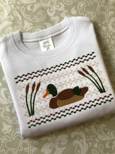 Faux smocking mallard duck tee