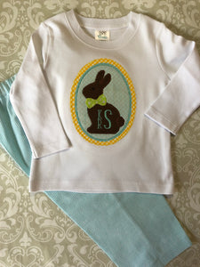 Monogram Easter outfit for boys