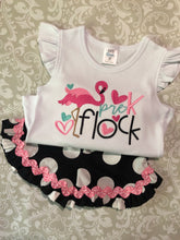 Flamingo back to school tee and shorts set
