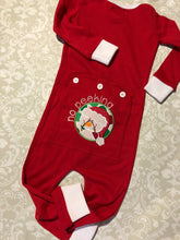 Christmas Union Suit pjs with button flap