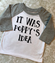 Embroidered personalized grandparent raglan tee