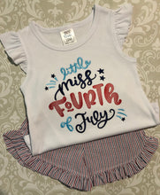 Little Miss Fourth of July shorts set