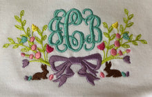 Easter monogram baby gown
