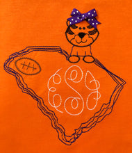 Monogram Tiger with South Carolina state outline