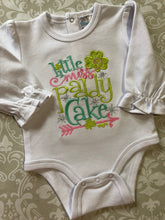 Little Miss Paddy Cake applique St. Patrick's day bodysuit