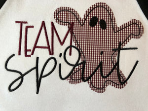 Team Spirit gamecock ghost applique raglan tee