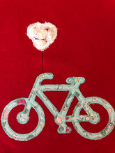 Valentine bicycle applique tunic and ruffle pants