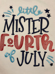 Little mister Fourth of July boys shorts set