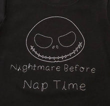 Nightmare before nap time embroidered black halloween tee