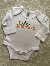 Hello Pumpkin embroidered baby bodysuit
