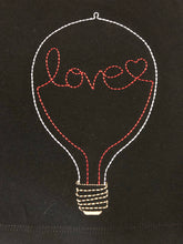 Valentine tunic with embroidered love light bulb