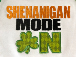 Shenanigan mode on applique st paddy raglan