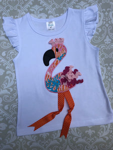 Applique flamingo shorts set