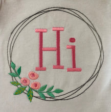 Hi embroidered baby girl gown