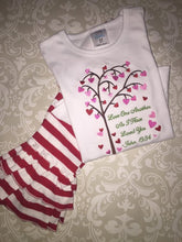 Love one another Valentine outfit or ruffle tee