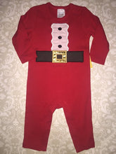Santa suit applique baby romper