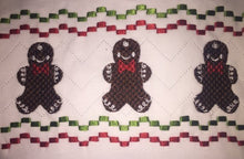 Faux smocked gingerbready boy Christmas tee