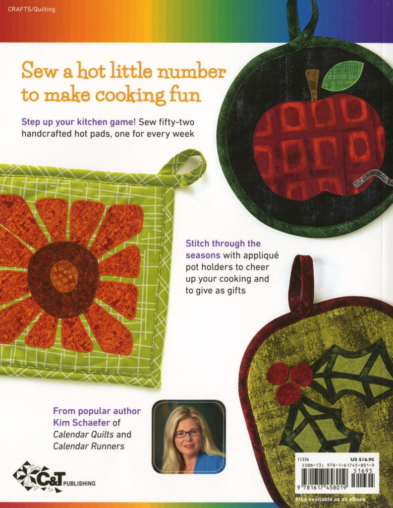 52 Playful Pot Holders to Applique - Softcover Book