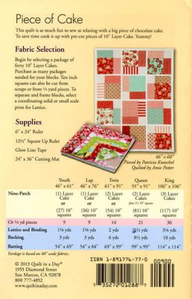 Piece of Cake Quilt Pattern