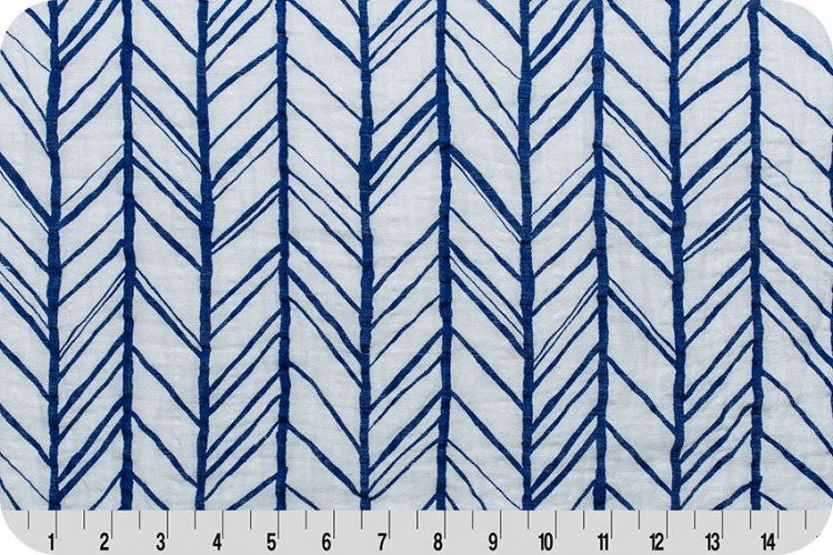 Embrace Double Gauze Herringbone - Royal