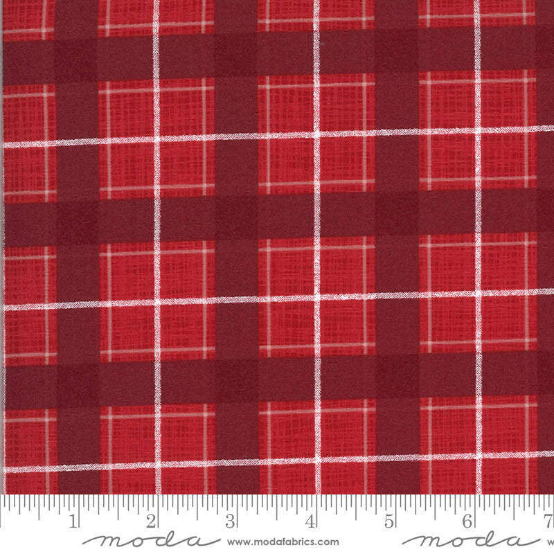 Juniper Plaid - Cardinal