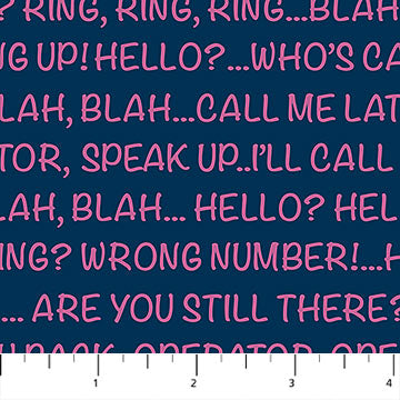 Call Me! Words - Blue