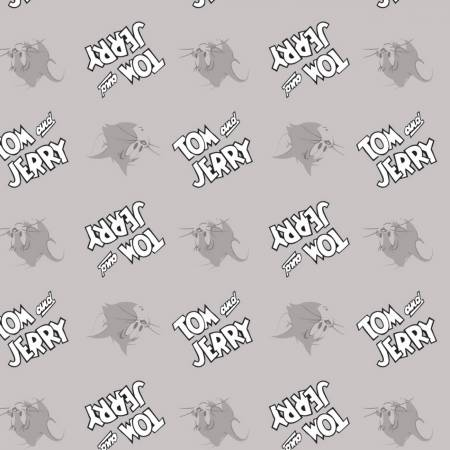 Tom & Jerry Logo Editoiral - Light Grey