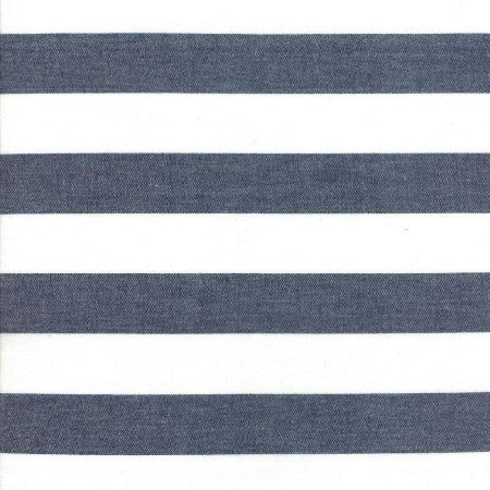 "Moda Toweling 16"" Picnic Point Tea - Navy White Stripe"