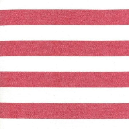 "Moda Toweling 16"" Picnic Point Tea - Red White Stripe"
