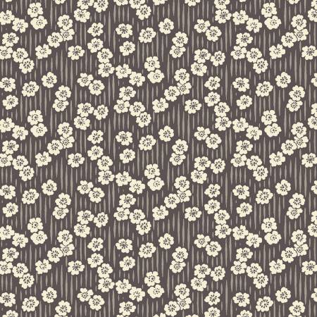Sussex Floral Stripe - Charcoal