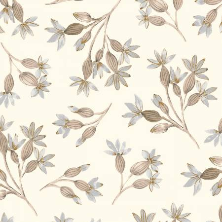 Eliana Floral Buds - White/Grey