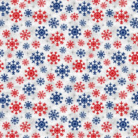 Christmas USA Snowflakes - White
