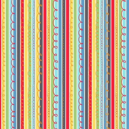 A To Zoo Scribble Stripe - Multi