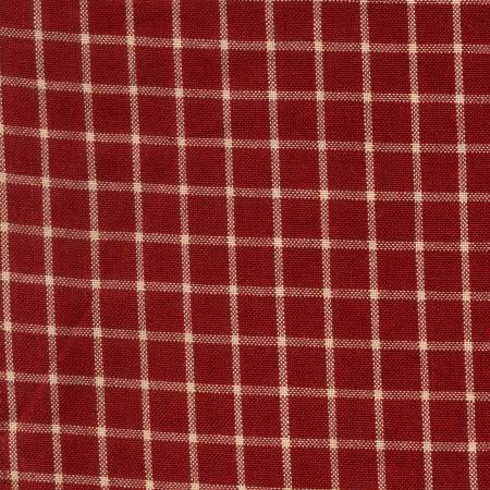 Reverse Window Pane Towel Red Teadye
