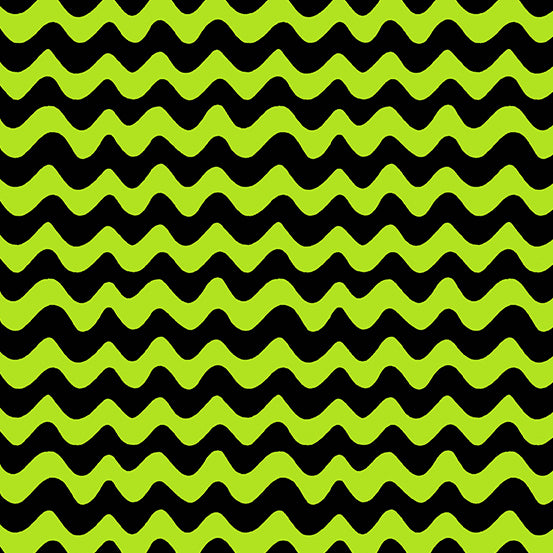 A Spooky Good Time Wavy Stripes - Black Green